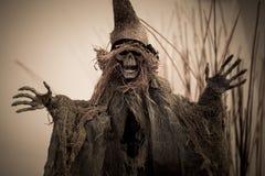 Amedronte o crânio para o Dia das Bruxas Fotos de Stock Royalty Free