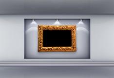 Ameia com frame e projectores para a exibição Fotografia de Stock Royalty Free