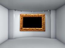 Ameia com projectores e frame de retrato Foto de Stock Royalty Free