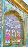 A ameia telhada do complexo de Naranjestan, Shiraz, Irã Fotos de Stock Royalty Free