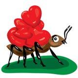 Ameise mit Herzen Lizenzfreie Abbildung
