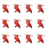 Ameise mit verschiedenen Gesichtsausdrücken Lizenzfreie Stockbilder