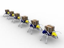 Ameisen-Arbeitskräfte Lizenzfreies Stockfoto