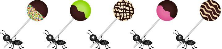 Ameisen, die Lutscher tragen stock abbildung