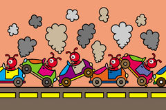 Ameisenverkehr Lizenzfreies Stockbild
