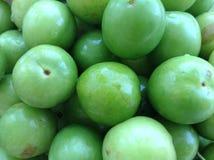 Ameixa verde Fotografia de Stock Royalty Free