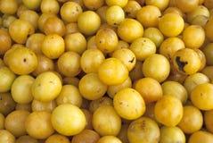 Ameixas amarelas Fotos de Stock