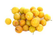 Ameixas amarelas Fotografia de Stock Royalty Free