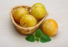 Ameixas amarelas Foto de Stock