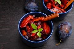 Ameixas cozidos Fotografia de Stock