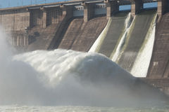 Central eléctrica hidroelétrico Imagem de Stock Royalty Free
