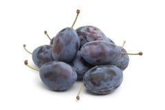 Ameixas de ameixa frescas inteiras Foto de Stock