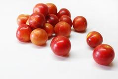 Ameixas de cereja Fotografia de Stock