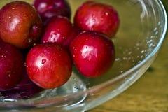 Ameixas frescas Foto de Stock
