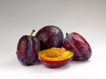 Ameixas frescas Foto de Stock Royalty Free