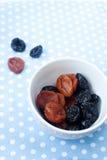 Ameixas secas e alperces secados Imagem de Stock