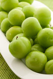 Ameixas verdes Foto de Stock Royalty Free