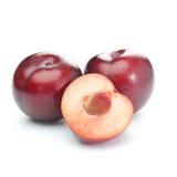 Ameixas vermelhas Foto de Stock
