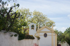 Ameixoeira的,古老里斯本,葡萄牙Santo Antà ³ nio (圣安东尼)宽容教堂 免版税库存照片