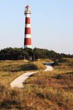 Ameland Lighthouse Bornrif near Hollum, Netherlands Royalty Free Stock Photo
