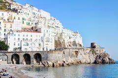 Amelfi kust i Italien royaltyfria bilder