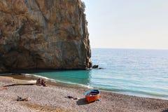Amelfi kust i Italien arkivbilder