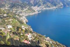 Amelfi kust i Italien arkivfoto
