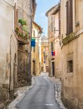 Amelia, ancient and beautiful town in the Province of Terni, Umbria, Italy. Amelia is a town and comune of the province of Terni, in the Umbria region of royalty free stock photo