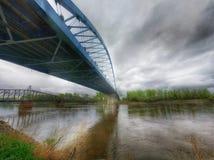 Amelia Earhart-Denkmalbrücke Stockbild