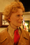 Amelia Earhart Wax Figure. A wax figure of aviation pioneer Amelia Earhart at Madame Tussauds in New York City royalty free stock images