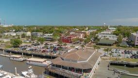 AMELIA ISLAND, FL - APRIL 1, 2018: Coastline of Fernandina Beach Royalty Free Stock Images