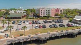 AMELIA ISLAND, FL - 1ER AVRIL 2018 : Littoral de plage de Fernandina Images libres de droits