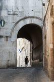 Amelia (Ombrie, Italie) - vieille rue Images libres de droits