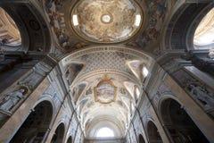 Amelia (Terni, Ombrie, Italie) - intérieur de cathédrale Images libres de droits