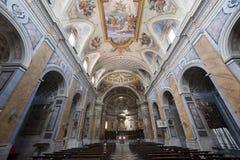 Amelia (Terni, Ombrie, Italie) - intérieur de cathédrale Photographie stock libre de droits