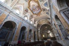 Amelia (Terni, Ombrie, Italie) - intérieur de cathédrale Image stock