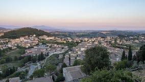 Amelia Umbria, Italy: historic town stock image