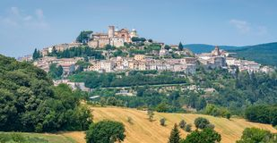 Amelia, ancient and beautiful town in the Province of Terni, Umbria, Italy. Amelia is a town and comune of the province of Terni, in the Umbria region of royalty free stock photos