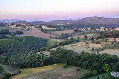 Amelia Umbria, Italie : paysage Photos libres de droits