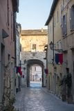 Amelia Umbria, Italie : ville historique Photos stock