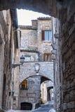 Amelia Umbria, Italie : ville historique Photos stock