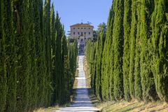 Amelia Umbria, Italy: Villa Aspreta. Amelia Terni, Umbria, Italy: park of the historic Villa Aspreta, near the town royalty free stock image