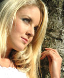 Amelia26. Sunlit blond hair Stock Image