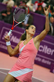 Amelie Mauresmo aims high Royalty Free Stock Photography