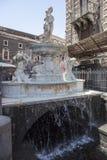 ` Amenano del dell de Fontana en Piazza Duomo Catania Fotos de archivo