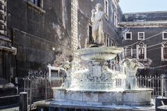 ` Amenano del dell di Fontana in Piazza Duomo, Catania Immagine Stock Libera da Diritti