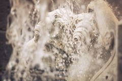 Amenano Fountain on Piazza del Duomo in Catania, Sicily, Italy Stock Images