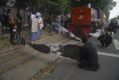 AMENAZA ANTI DE LA GUERRA DE LA CORRUPCIÓN DE INDONESIA Fotos de archivo libres de regalías