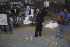 AMENAZA ANTI DE LA GUERRA DE LA CORRUPCIÓN DE INDONESIA Fotografía de archivo libre de regalías