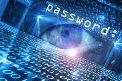 Amenaza cibernética de la seguridad ilustración del vector